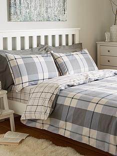 brushed-100-cotton-check-duvet-cover-set