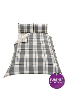 brushed-cotton-check-fitted-sheet-grey