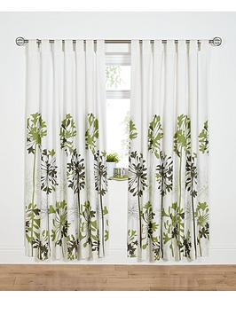 Agapanthus TabTop Curtains  Green