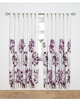 Agapanthus TabTop Curtains  Plum