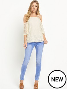 south-lace-cold-shoulder-jersey-top