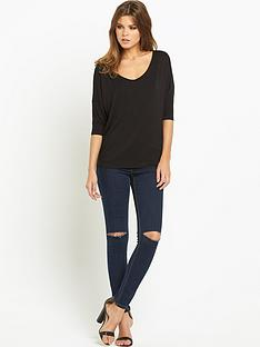 south-strap-back-batwing-jersey-top