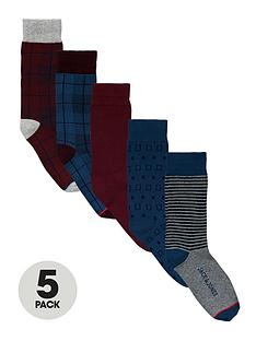 jack-jones-assorted-patternnbspsocks-5-pack