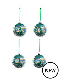 laurence-llewelyn-bowen-set-of-4-quotpeacock-iridescentquot-crackle-baubles