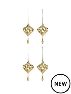 laurence-llewelyn-bowen-set-of-4-champagne-gold-quotglamarinaquot-glitter-hanging-ornaments