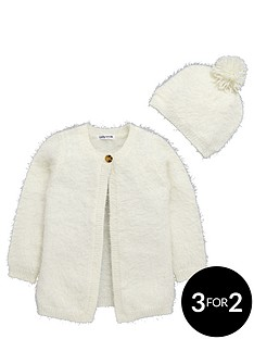 ladybird-toddler-girls-cream-eyelash-cardigan-with-bobble-hat-1-7-years