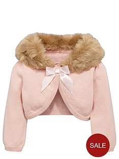 ladybird-girls-occasion-shrug-with-detachable-faux-fur-collar-12-months-16-years