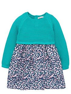 ladybird-girls-knitted-dress-with-with-woven-floral-skirt-12-months-7-years