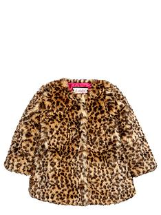 ladybird-girls-fashion-leopard-fauxnbspfur-coat-12-months-7-years