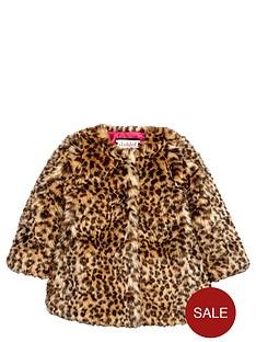 ladybird-girls-fashion-leopard-fauxnbspfur-coat-12-months-7-years