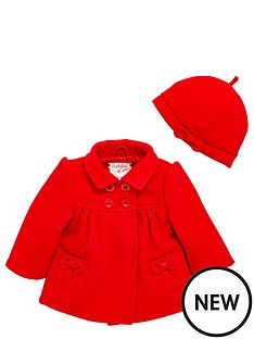 ladybird-baby-girls-bow-coat-amp-beret-set-2-piece