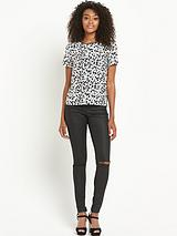 Animal Printed Boxy Top