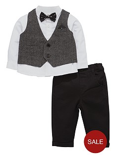 ladybird-baby-amp-toddler-boys-4-piece-bow-tie-set-with-chino-trouser-0-7-years