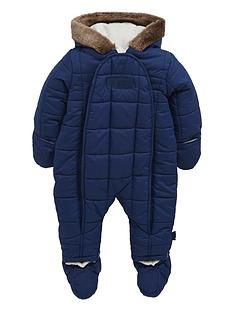 puffa-baby-boys-padded-faux-fur-snowsuit