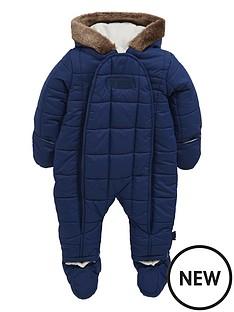 puffa-baby-boys-puffa-faux-fur-snowsuit-navy