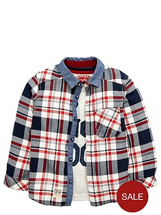 ladybird-boys-check-shirt-and-slogan-tee-set-2-piece