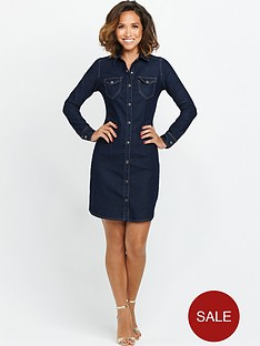 myleene-klass-fitted-denim-shirt-dress