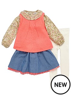 ladybird-girls-blouse-knitted-tank-skirt-and-tights-set-4-piece-12-months-7-years