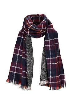 reversible-dark-check-midweight-scarf