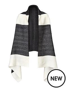mono-border-blanket-scarf