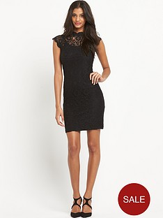 oasis-high-neck-lace-tube-dress