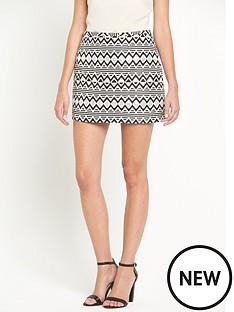 oasis-tatiana-jacquard-mini-skirt