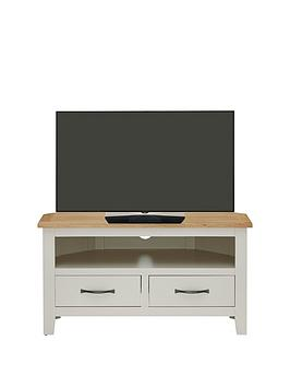 Luxe Collection  Chelsea Painted Ready Assembled Corner Tv Unit  Holds Up To 40 Inch Tv