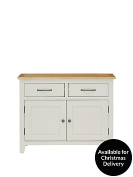 luxe-collection-luxe-collection-chelsea-ready-assembled-compact-grey-sideboard-with-oak-top