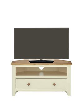 London Painted Ready Assembled Corner Tv Unit  Holds Up To 38 Inch Tv