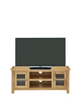 Luxe Collection  London Oak Ready Assembled Tv Unit  Fits Up To 50 Inch Tv