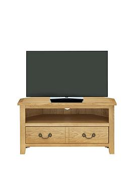Luxe Collection Luxe Collection - London Oak Ready Assembled Corner Tv  ... Picture