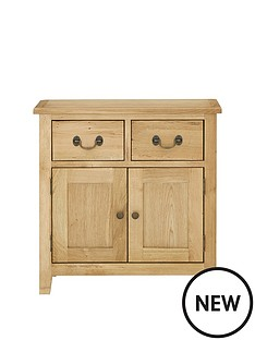 london-solid-oak-narrow-compact-sideboard