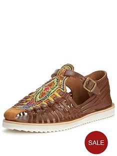glamorous-beaded-flat-sandal