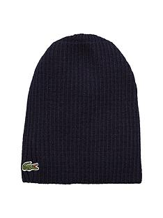 lacoste-ribbed-mens-beanie-ndash-navy