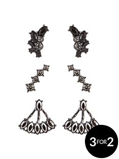 lipsy-lipsy-trio-earring-set