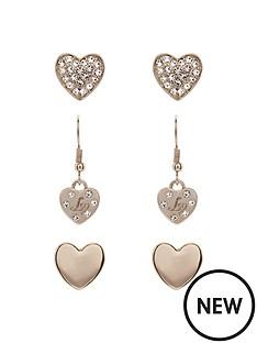 lipsy-lipsy-trio-heart-earring-set