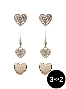 lipsy-lipsy-trio-heart-earring-set