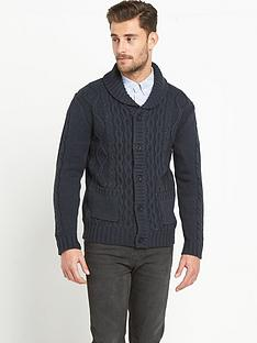 french-connection-cable-knit-mens-cardigan