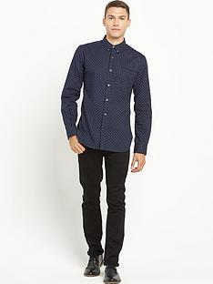 french-connection-spot-print-long-sleeve-shirt