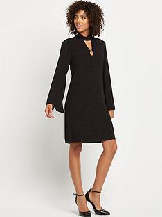 wallis-lurex-textured-dress