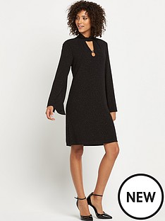 wallis-lurex-textured-dress
