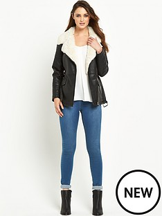 wallis-faux-fur-lined-pu-jacket