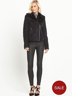 miss-selfridge-shearling-biker-jacket