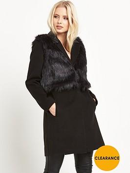 miss-selfridge-2-in-1-faux-fur-coat