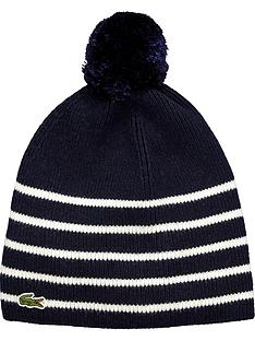 lacoste-lacoste-boys-stripe-bobble-hat