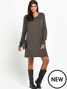 vila-virivaampnbsplong-sleeved-knitted-dressampnbsp