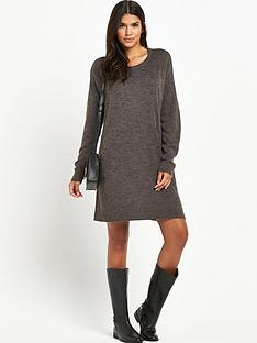 vila-virivanbsplong-sleeved-knitted-dressnbsp