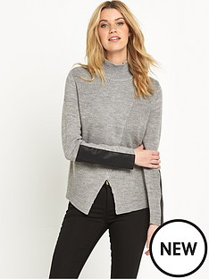 vila-vikaluanampnbspknitted-high-neck-top