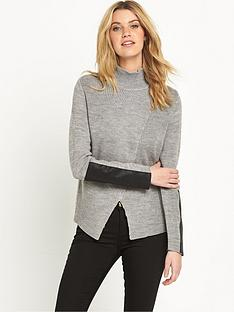 vila-vikaluannbspknitted-high-neck-top