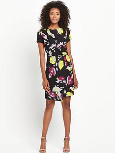 south-printed-drape-pencil-dress